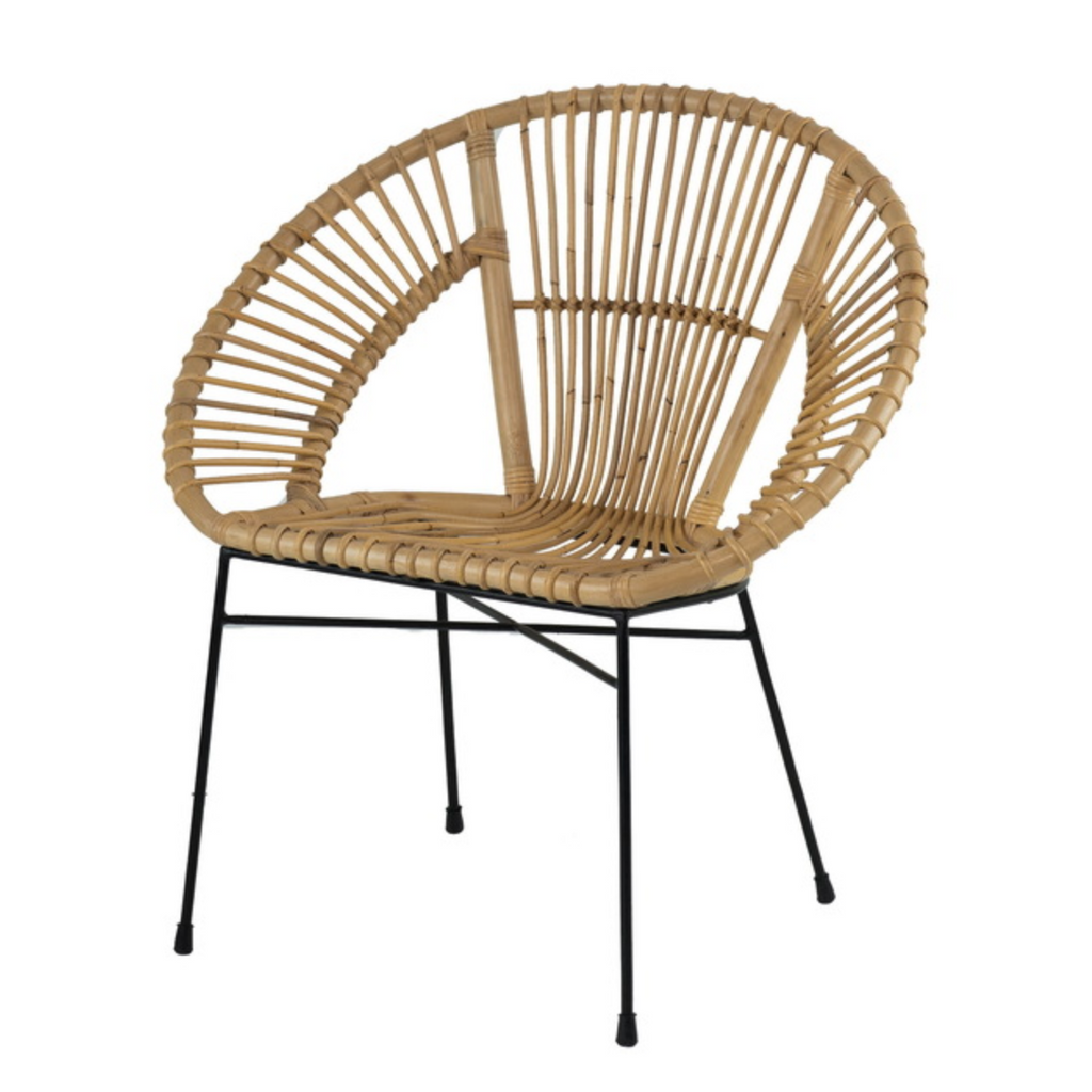 Aroona Fan shaped Rattan Chair - The Home Accessories Company