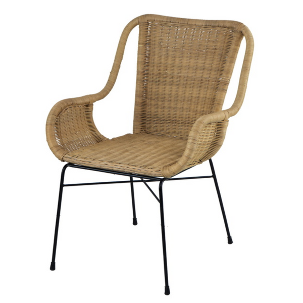 Palmview Rattan Armed Dining Chair - The Home Accessories Company