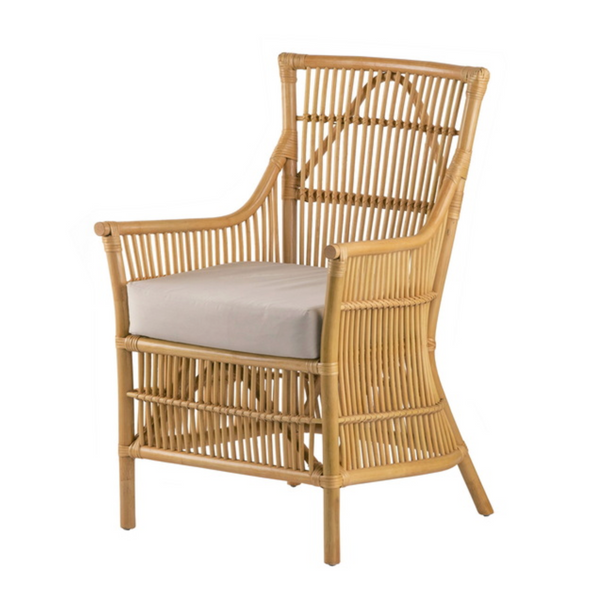 Caloundra Rattan Armchair with cushion - The Home Accessories Company