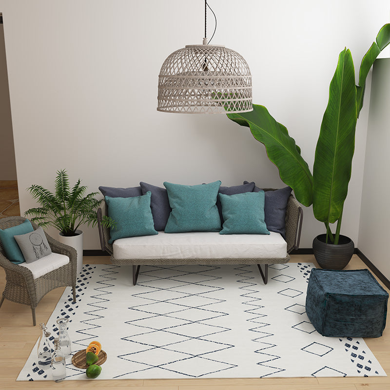 Cream Geometric Rug - The Home Accessories Company 1