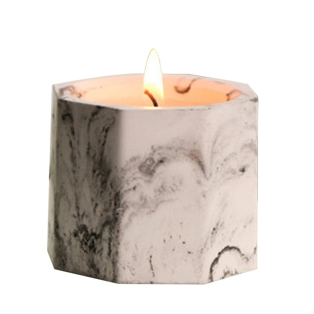 Marble soy scented candle- The Home Accessories Company