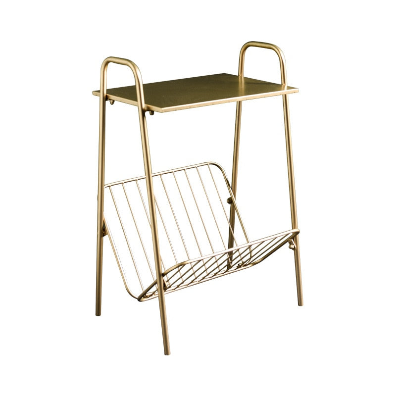 Iron side table and magazine rack- the home accessories company