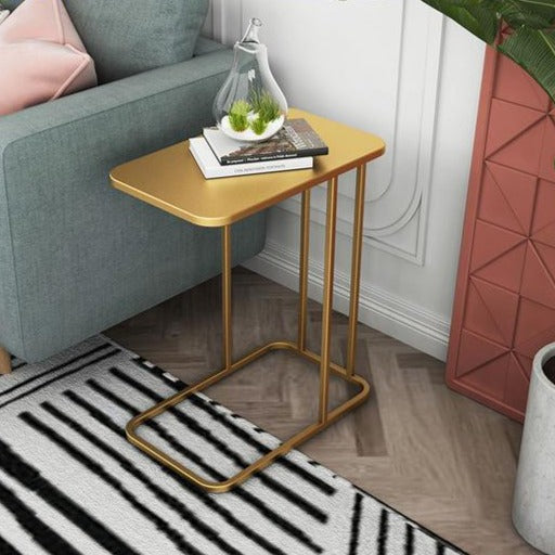 Iron and Marble Effect Side Table- The Home Accessories Company 1
