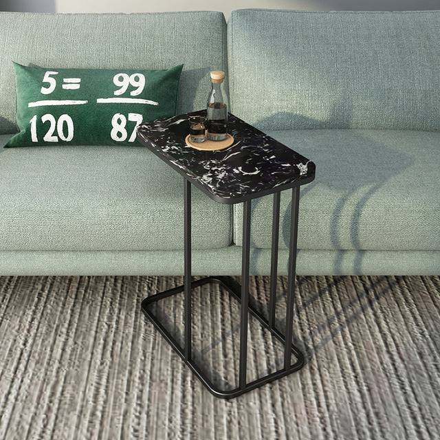 Iron and Marble Effect Side Table- The Home Accessories Company 3