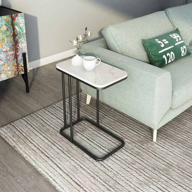 Iron and Marble Effect Side Table- The Home Accessories Company 7