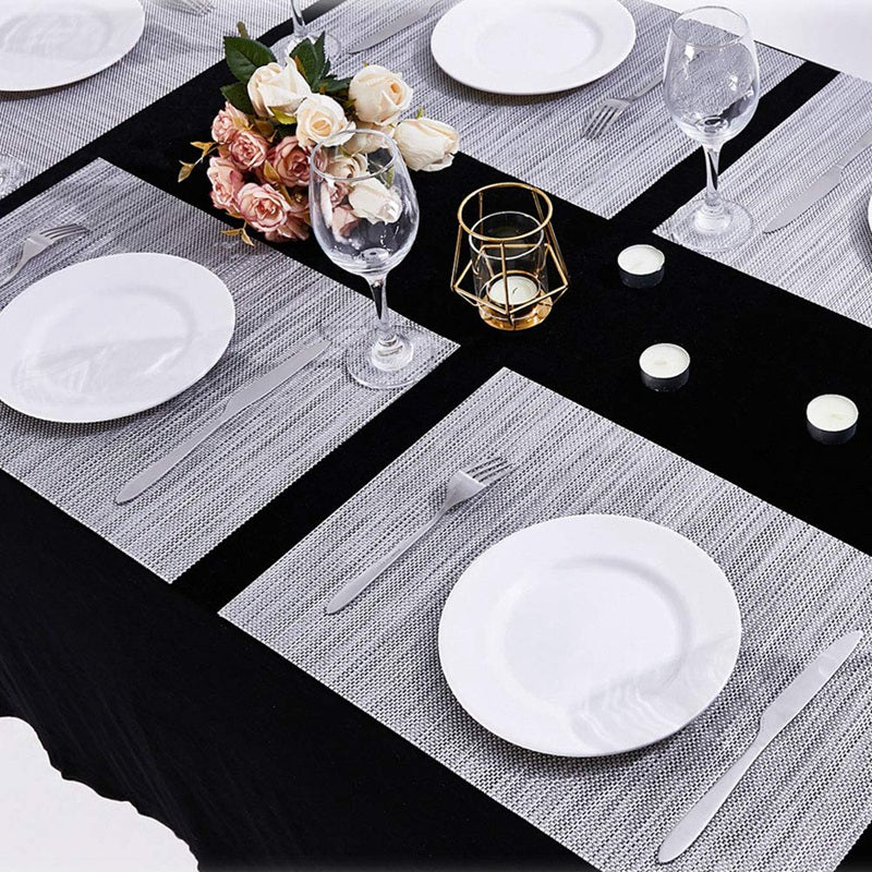 Grey Placemats Set of 6 - The Home Accessories Company