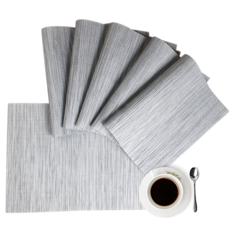 Grey Placemats Set of 6 - The Home Accessories Company 1
