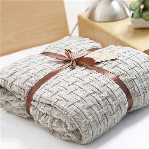knitted blanket throw- The Home Accessories Company 3