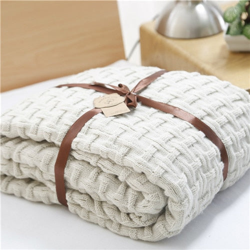 knitted blanket throw- The Home Accessories Company 1