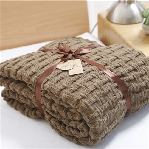 knitted blanket throw- The Home Accessories Company 2