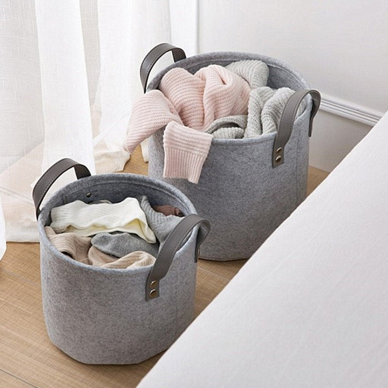 Foldable Felt Laundry Basket- The Home Accessories Company