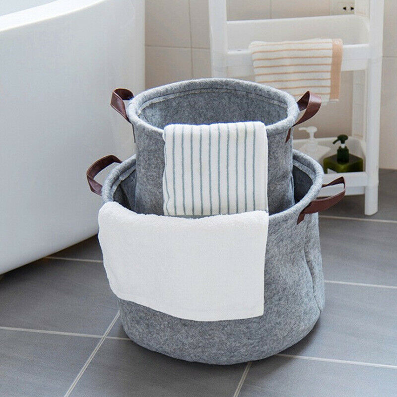 Foldable Felt Laundry Basket- The Home Accessories Company 3