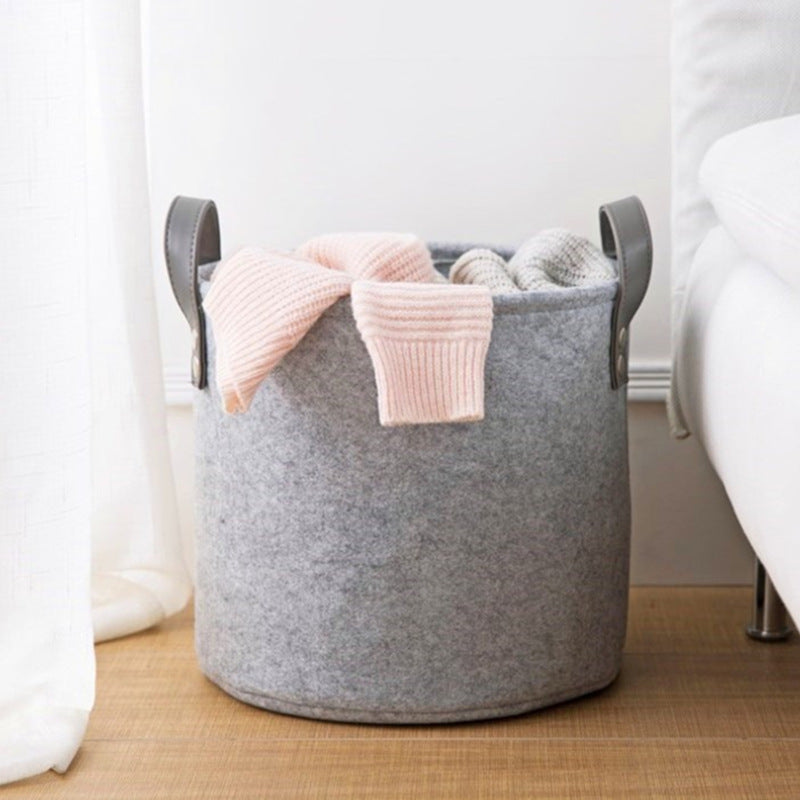 Foldable Felt Laundry Basket- The Home Accessories Company 2