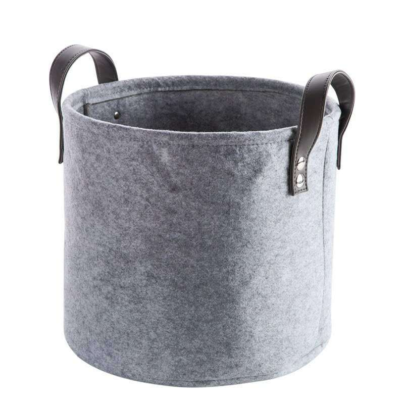 Foldable Felt Laundry Basket- The Home Accessories Company 1