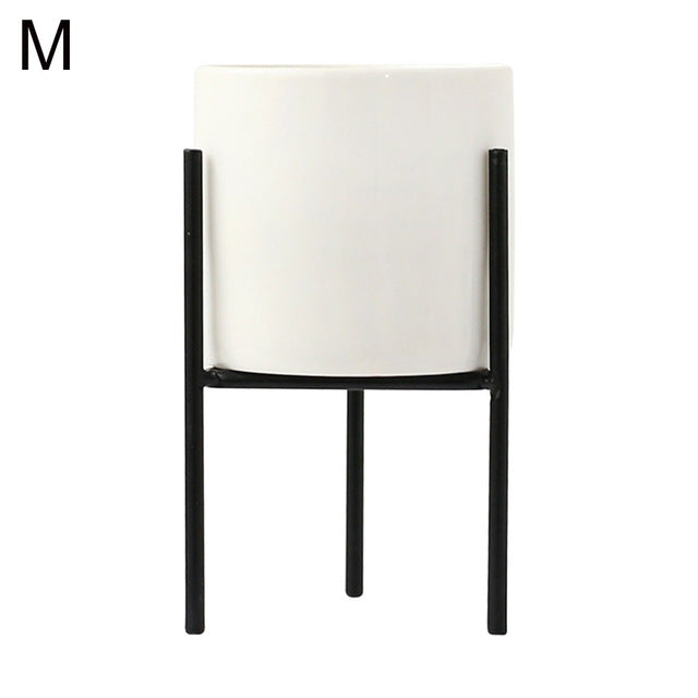 Ceramic Plant Pot with Metal Stand - The Home Accessories Company 5