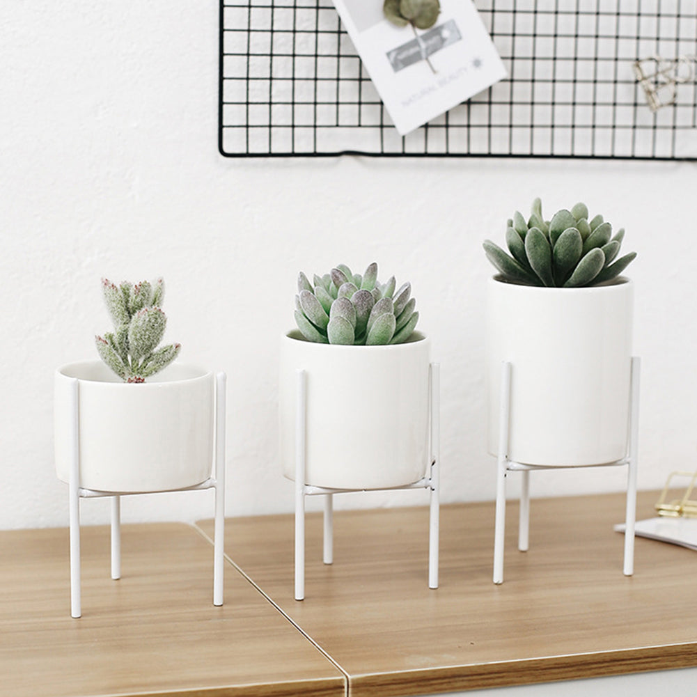 Ceramic Plant Pot with Metal Stand - The Home Accessories Company 11
