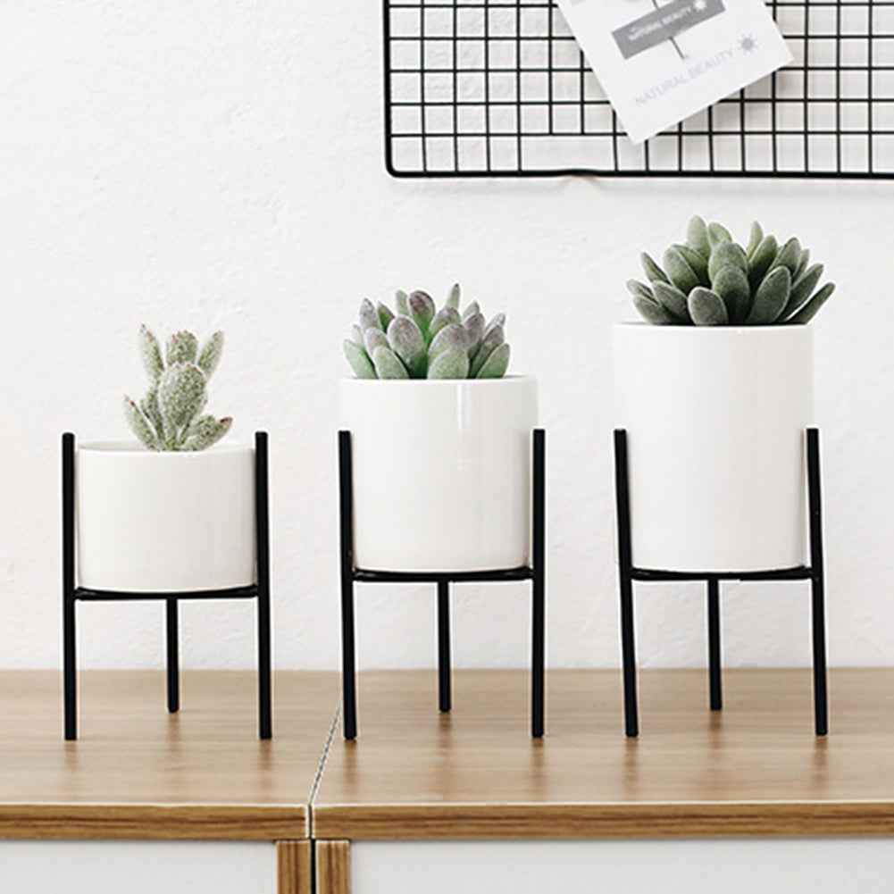 Ceramic Plant Pot with Metal Stand - The Home Accessories Company 6