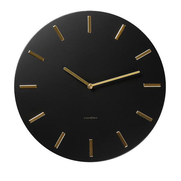 Modern Black Wall Clock- The Home Accessories Company