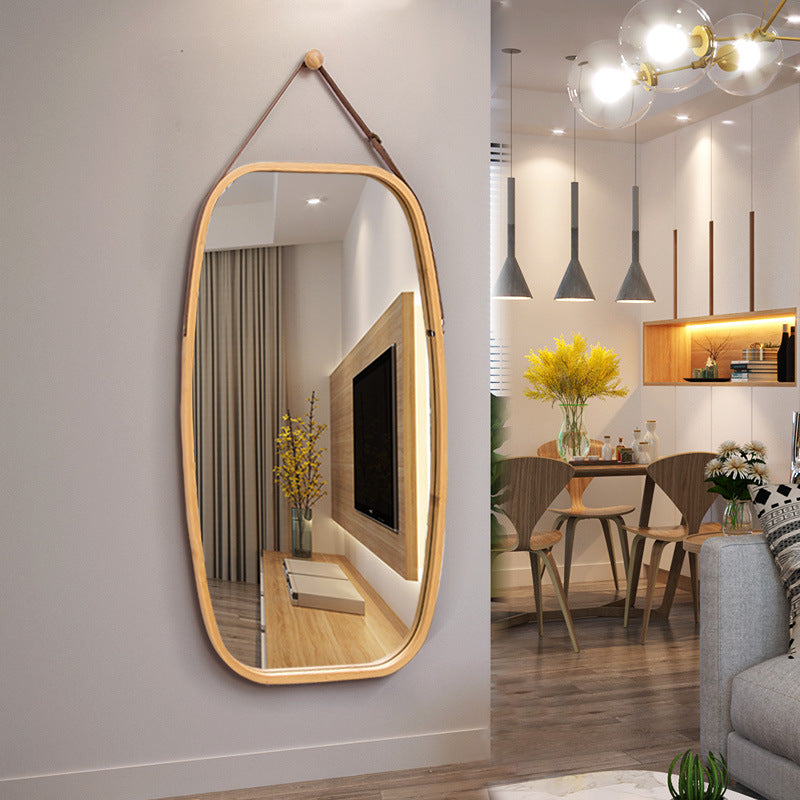 Wooden Framed Hanging Mirror - The Home Accessories Company