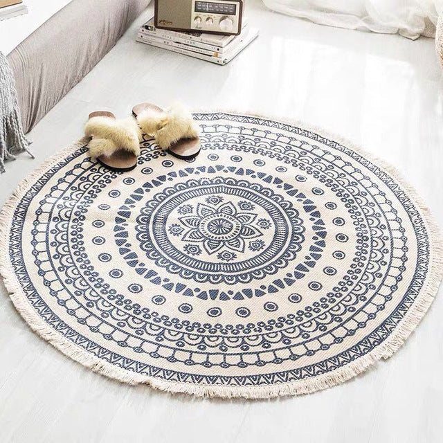 Round Bohemian Rug in Multiple Styles - The Home Accessories Company 2