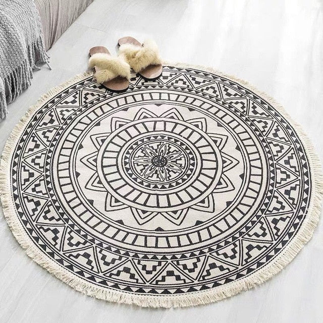 Round Bohemian Rug in Multiple Styles - The Home Accessories Company 3