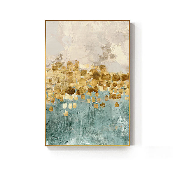 Golden Abstract Wall Art- The Home Accessories Company 1