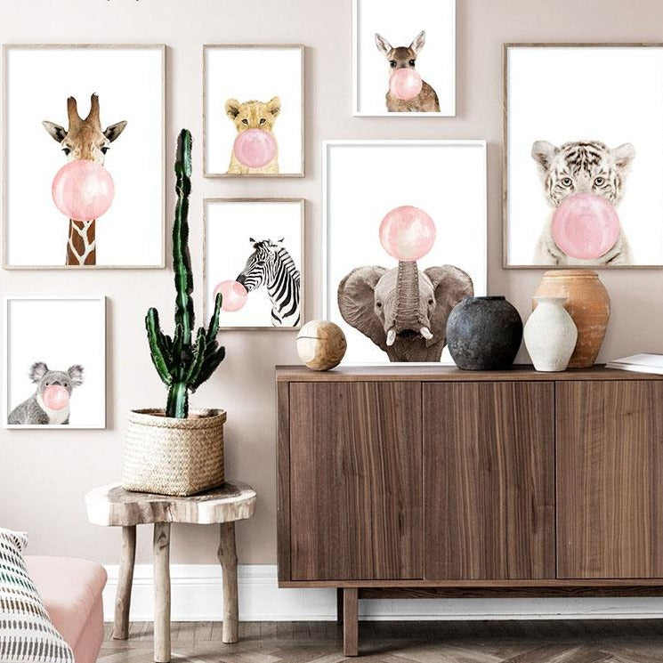Pink Bubble Animal Wall Art - The Home Accessories Company 1