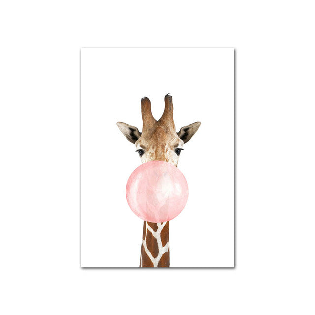 Pink Bubble Animal Wall Art - The Home Accessories Company