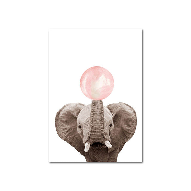 Pink Bubble Animal Wall Art - The Home Accessories Company 9