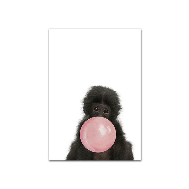 Pink Bubble Animal Wall Art - The Home Accessories Company 2
