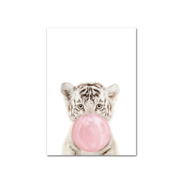Pink Bubble Animal Wall Art - The Home Accessories Company 5