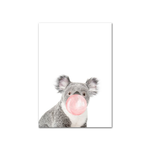 Pink Bubble Animal Wall Art - The Home Accessories Company 7