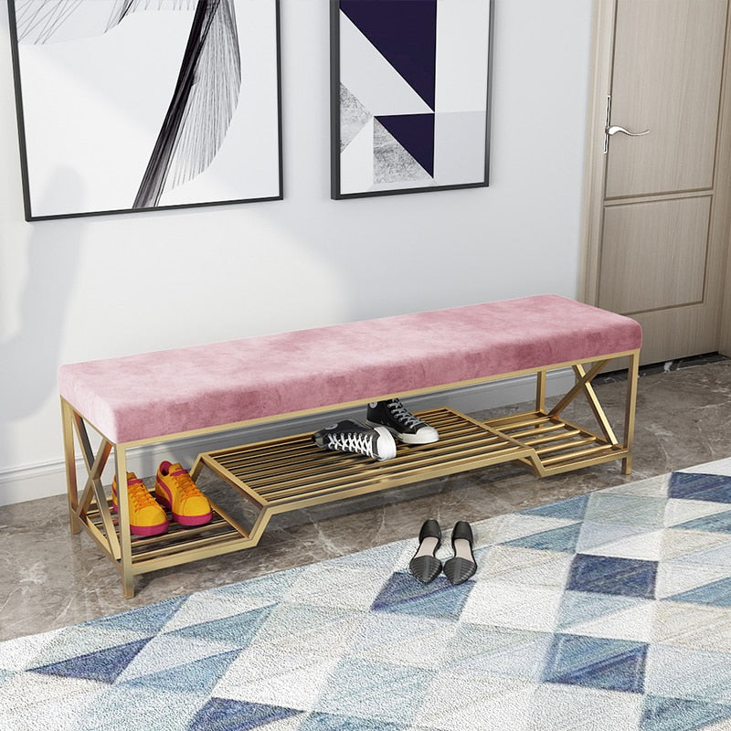 Luxury Iron Shoe Stool Bench- The Home Accessories Company