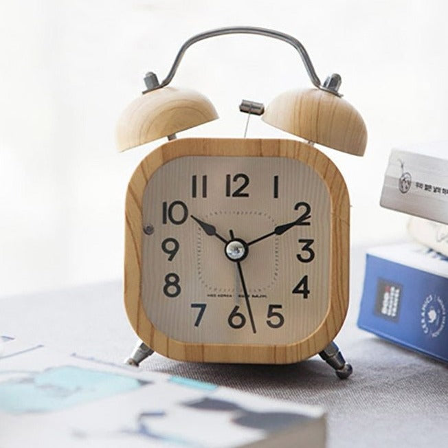 Retro Wooden Alarm Clock- The Home Accessories Company 3