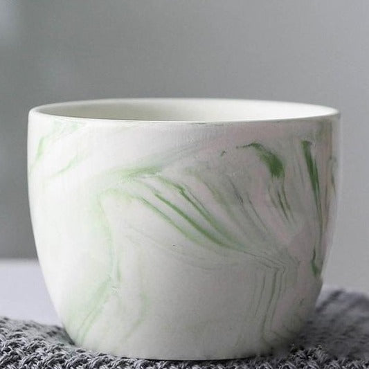 Marble Pattern Ceramic Flower Pot - The Home Accessories Company 4