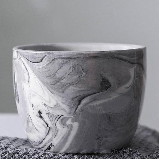 Marble Pattern Ceramic Flower Pot - The Home Accessories Company 1