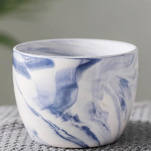 Marble Pattern Ceramic Flower Pot - The Home Accessories Company 5