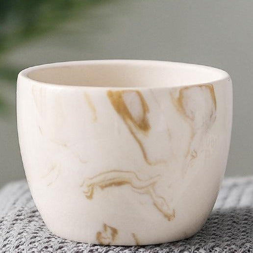 Marble Pattern Ceramic Flower Pot - The Home Accessories Company 9