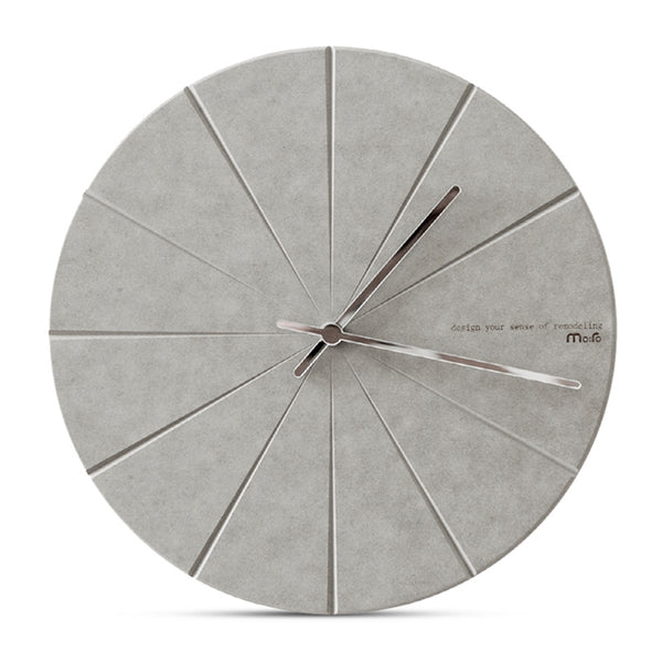 Concrete Effect Modern Wall Clock - The Home Accessories Company