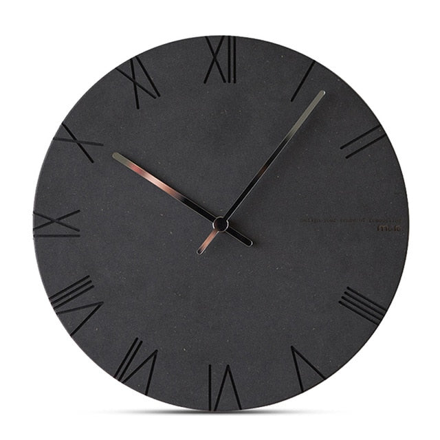 Concrete Effect Modern Wall Clock - The Home Accessories Company 3