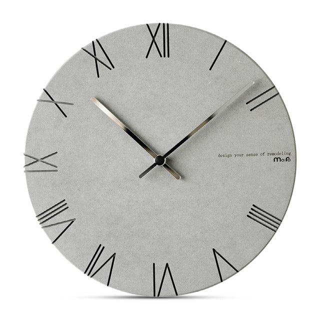 Concrete Effect Modern Wall Clock - The Home Accessories Company 1