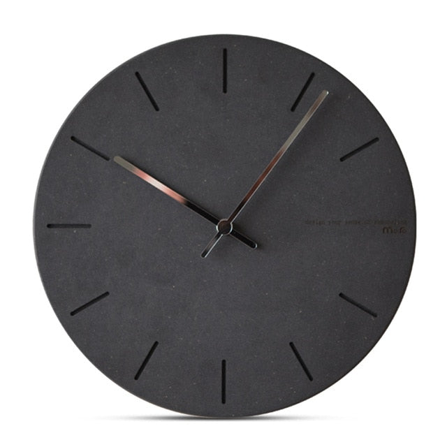 Concrete Effect Modern Wall Clock - The Home Accessories Company 6