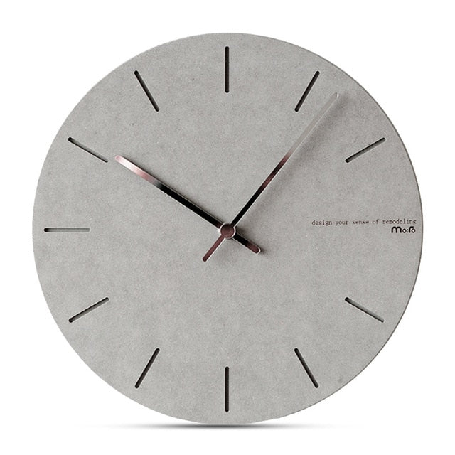 Concrete Effect Modern Wall Clock - The Home Accessories Company 7