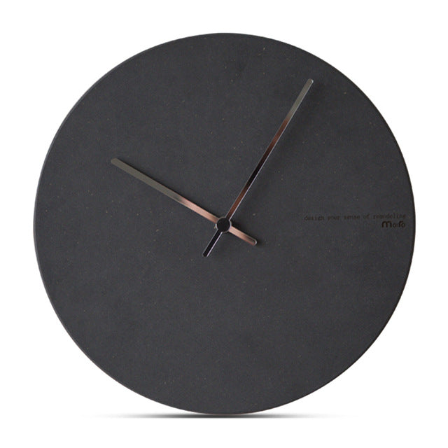Concrete Effect Modern Wall Clock - The Home Accessories Company 5