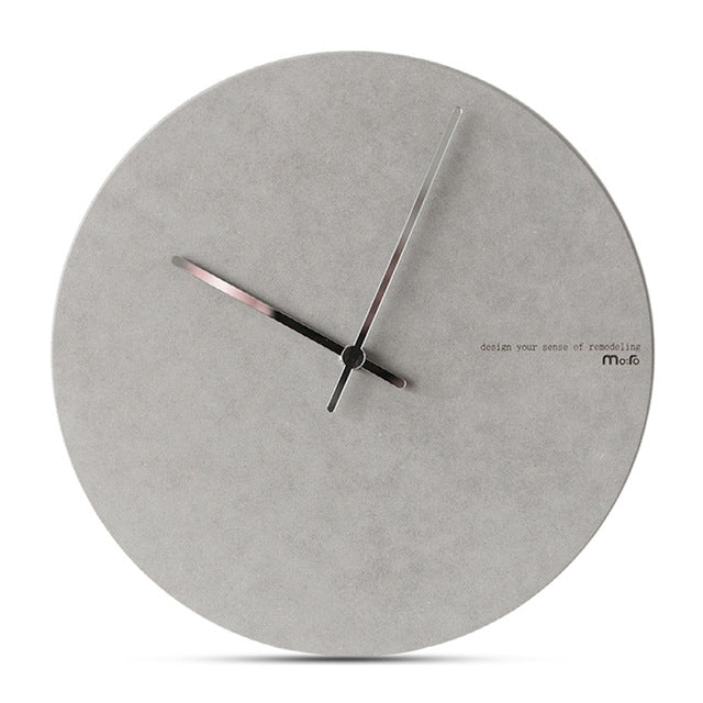 Concrete Effect Modern Wall Clock - The Home Accessories Company 4