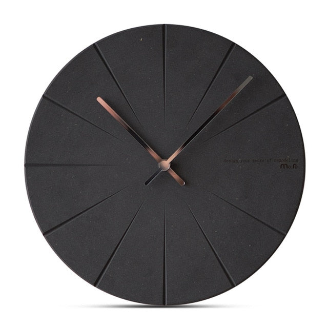 Concrete Effect Modern Wall Clock - The Home Accessories Company 9