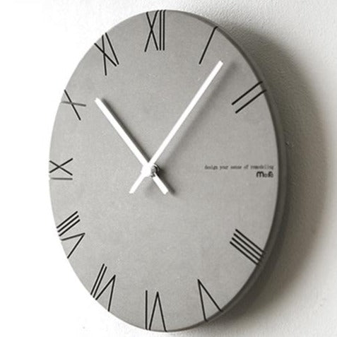 Concrete Effect Modern Wall Clock - The Home Accessories Company 2