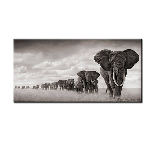 African Elephants Canvas- The Home Accessories Company