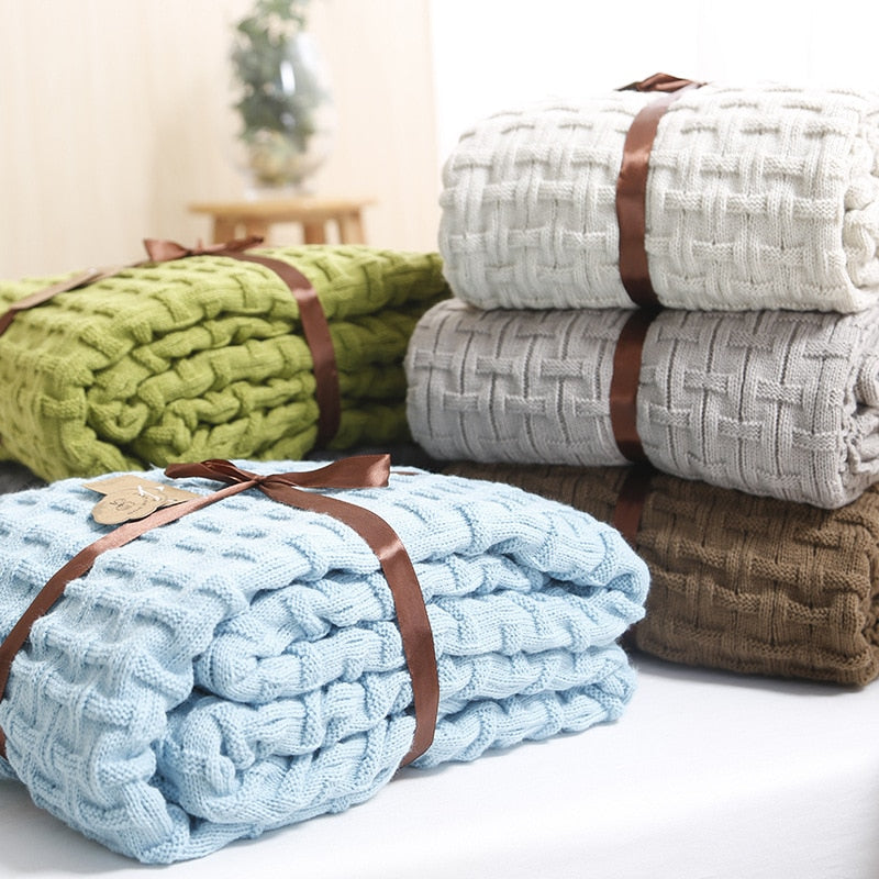 knitted blanket throw- The Home Accessories Company