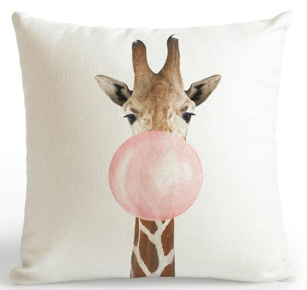 Pink Animal Bubblegum Cushion Cover - The Home Accessories Company 7